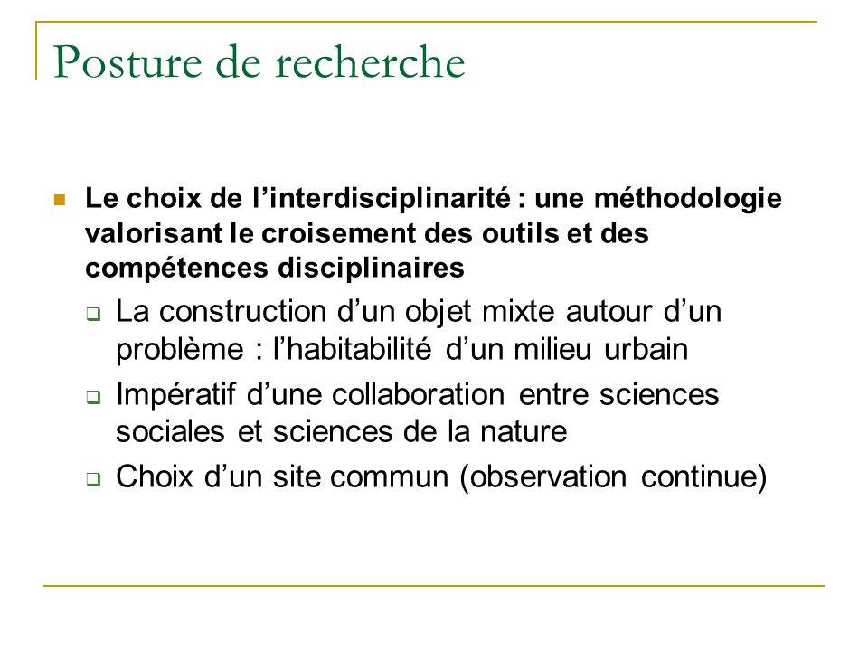 Posture de recherche Le choix de linterdisciplinarité : une méthodologie valorisant le croisement des outils et des compétences disciplinaires La cons