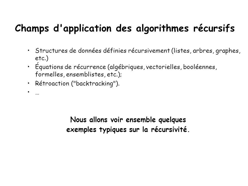 Danger de Fibonnacci Note : Cette fonction récursive effectue plusieurs appels au même calcul.