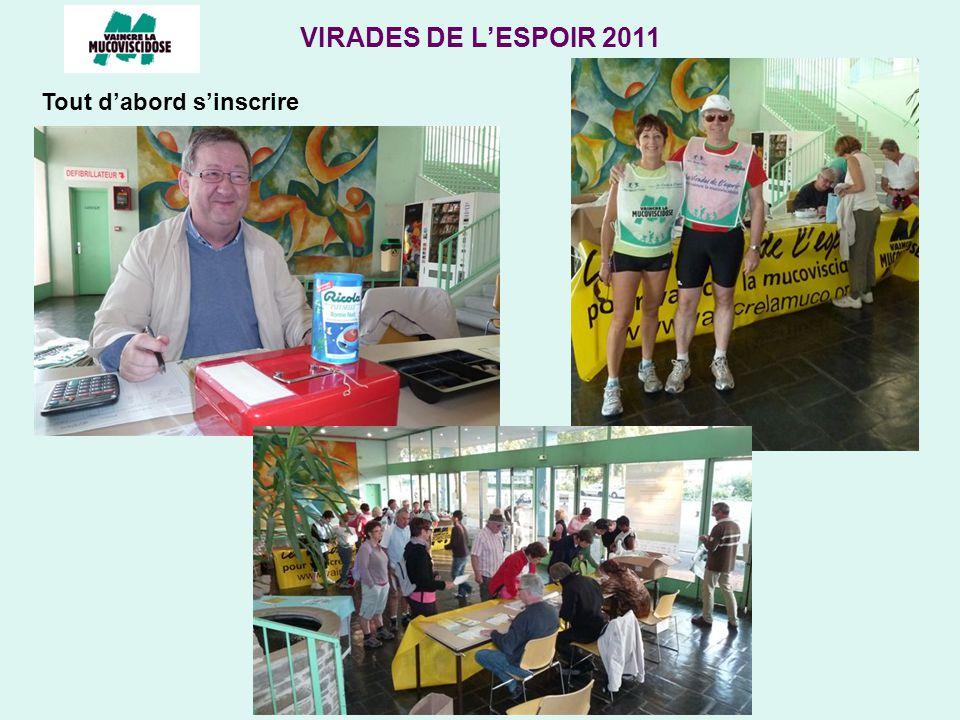 VIRADES DE LESPOIR 2011 Tout dabord sinscrire