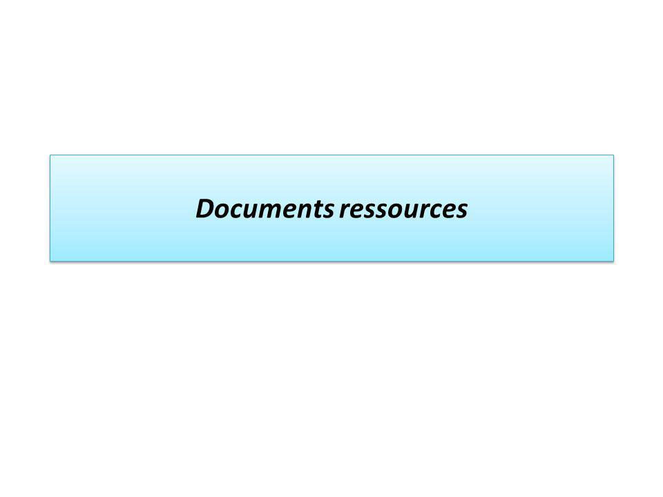 Documents ressources