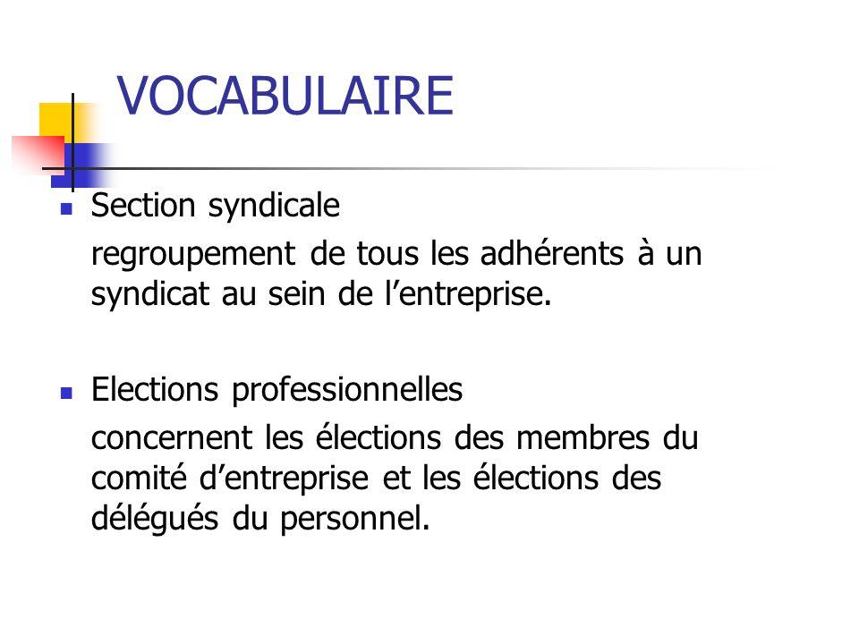 Principaux syndicats représentatifs CGT (confédération générale du travail), FO (force ouvrière), CFDT (Confédération française démocratique du travai
