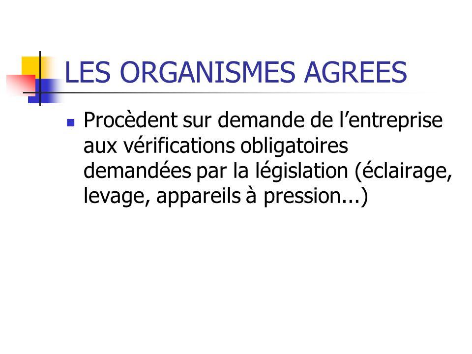 LES PARTENAIRES DE L ENTREPRISE Inspection du travail Commission Départementale De sécurité Prévention AT:MP Organismes agréés