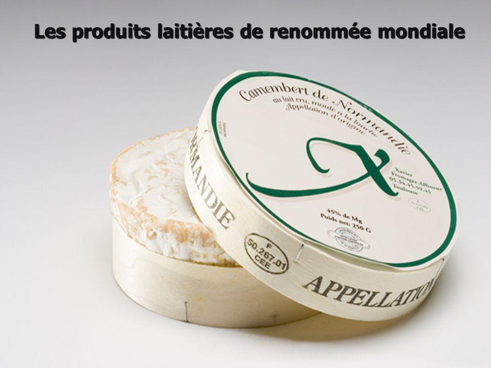 Les produits laitières de renommée mondiale