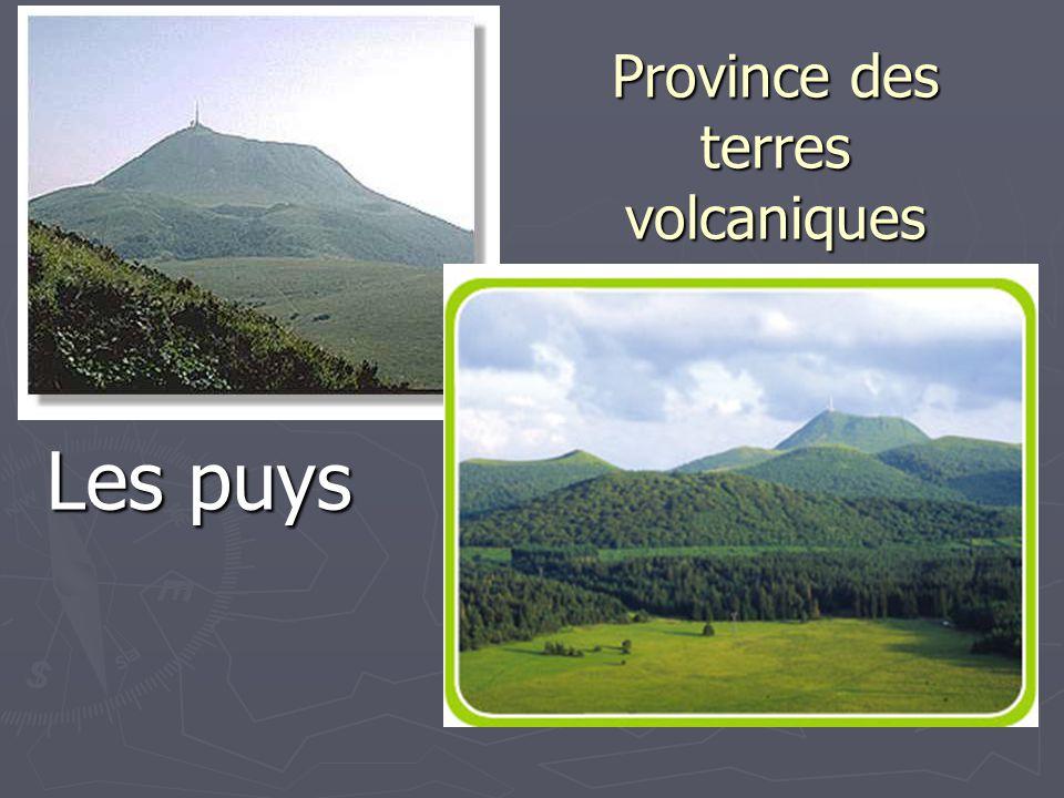 Province des terres volcaniques Les puys