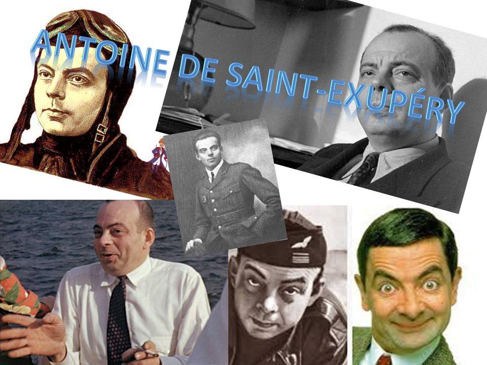 né le 29 Juin 1900 mort le 31 Juillet 1944 aristocrate, écrivain, poète et aviateur pionnier écrit Le Petit Prince lauréat de nombreux prix littéraires français pilote commerciale avant la Seconde Guerre mondiale