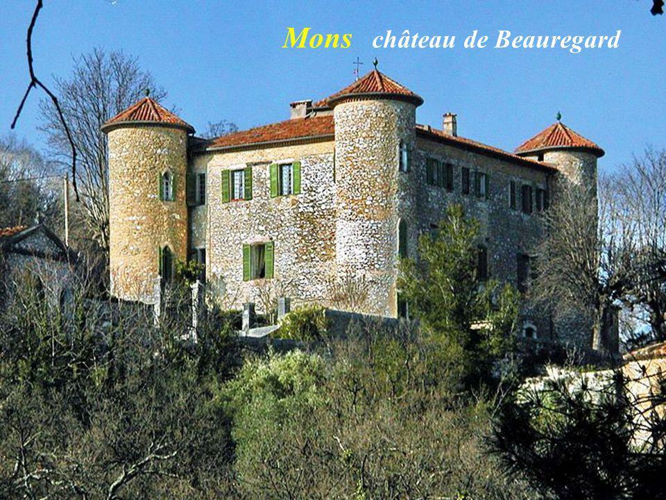 La grotte du Neissoun, source de la Siagnole, début de laqueduc de Mons à Fréjus Intérieur de la grotte M o n s