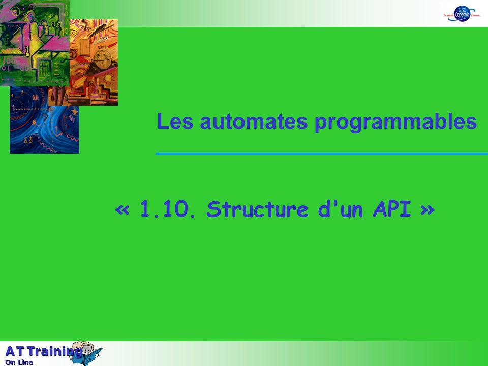 « 1.10. Structure d un API » Les automates programmables A T Training On Line