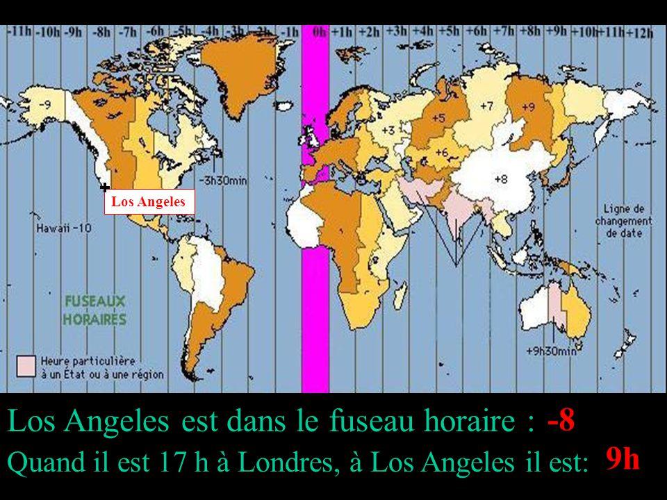 Les fuseaux horaires traduisent lécart entre les heures de deux villes différentes.