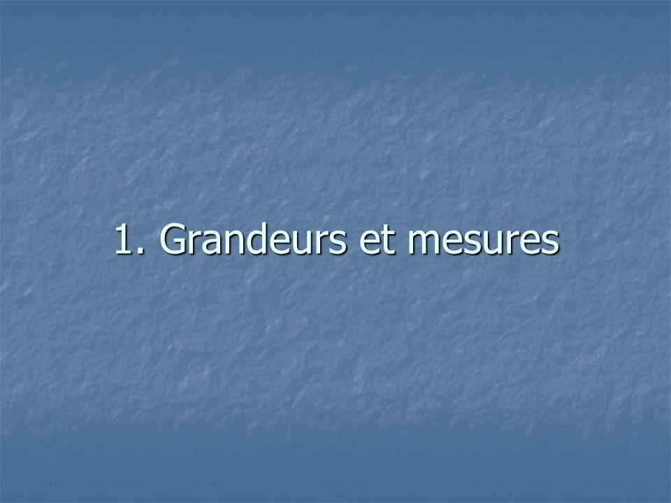 1. Grandeurs et mesures