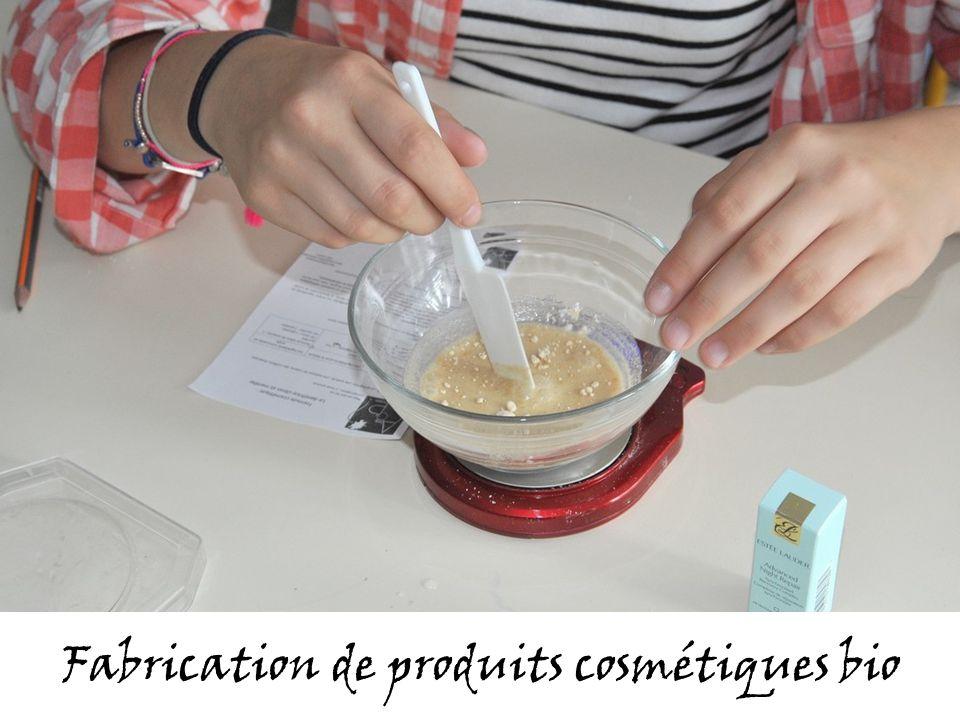 Fabrication de produits cosmétiques bio