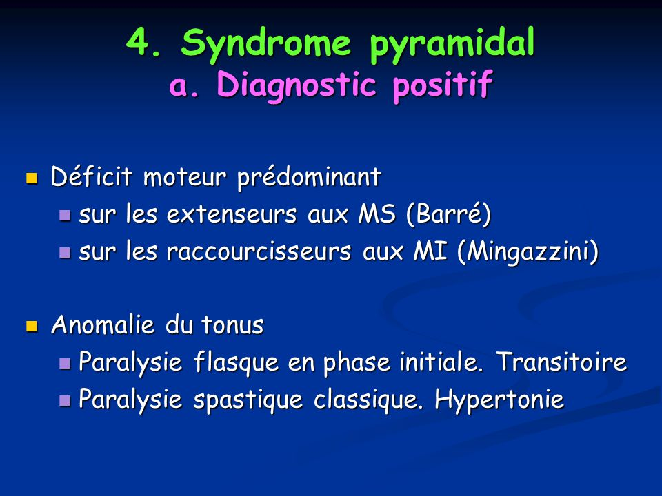 4.Syndrome pyramidal a.