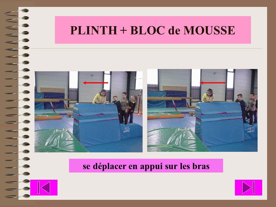 PLINTH + BLOC de MOUSSE se déplacer en appui sur les bras