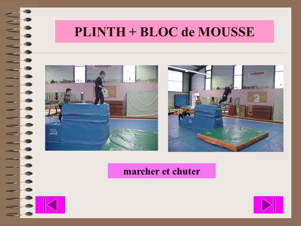 PLINTH + BLOC de MOUSSE marcher et chuter