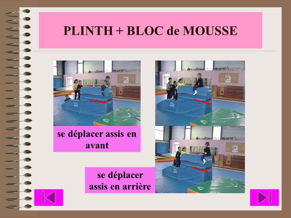 PLINTH + BLOC de MOUSSE se déplacer de côté, assis
