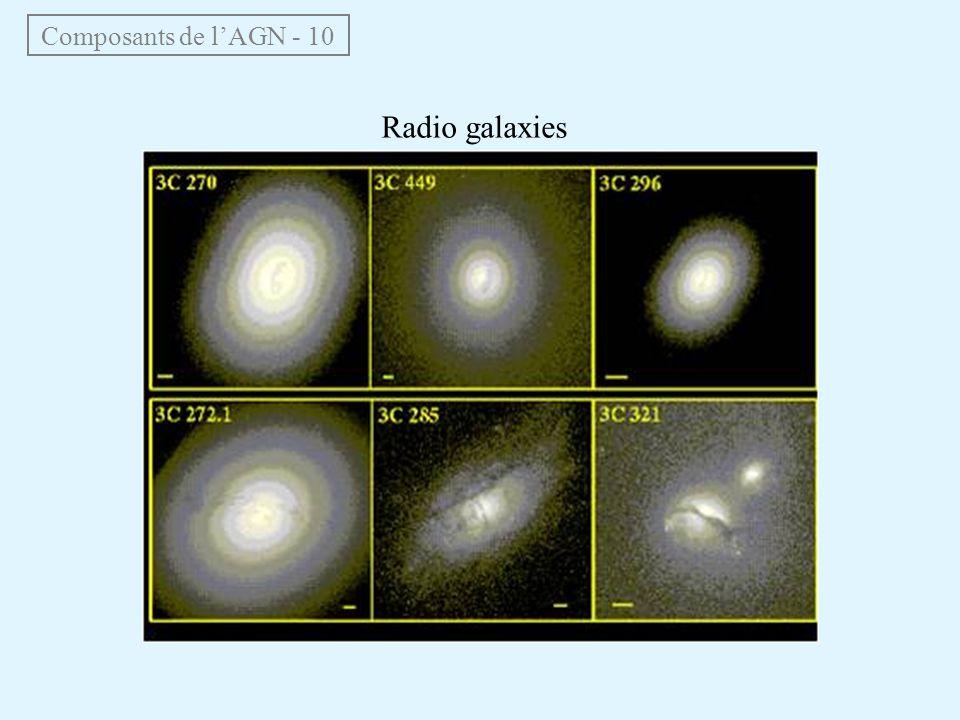 Composants de lAGN - 10 Radio galaxies