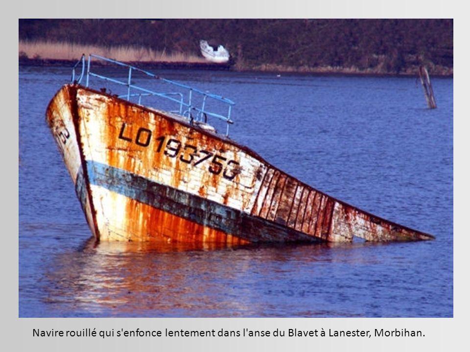 L'épave amoureuse En se disloquant, elle devient romantique... Pont-Aven, Finistère