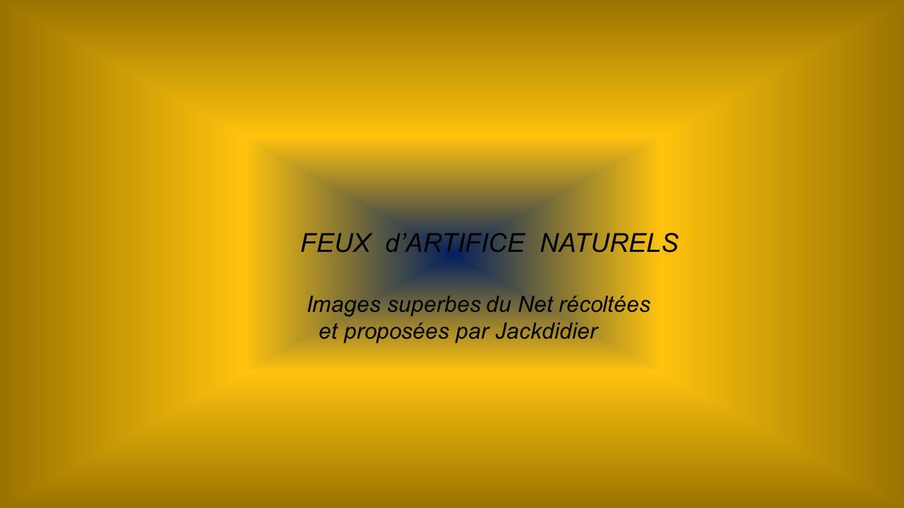 FEUX dARTIFICE NATURELS Images superbes du Net récoltées et proposées par Jackdidier