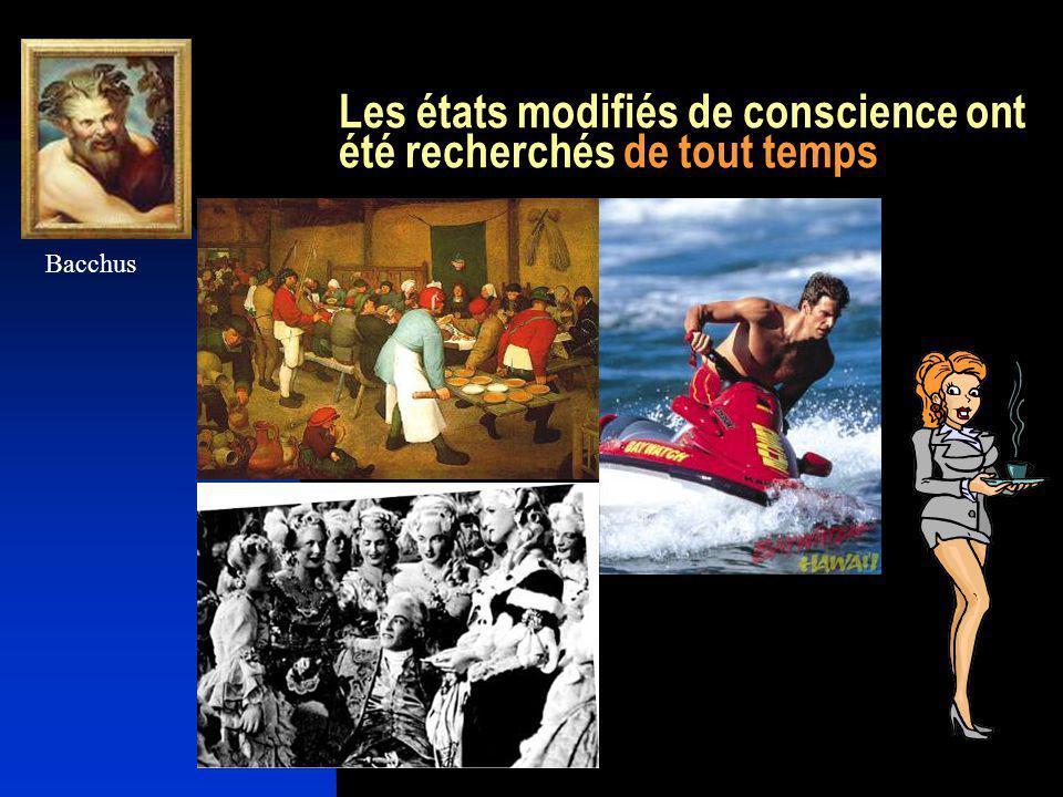 Les états modifiés de conscience peuvent être recherchés à travers des comportements Faire lamour Le sport La danse La transe initiatique La méditation transcendantale …