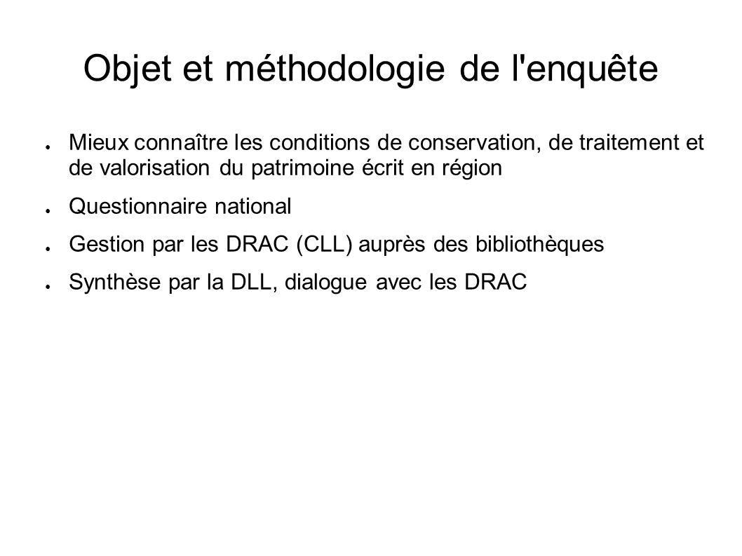 Conclusions et perspectives Un bilan contrasté Des points à préciser : données à obtenir, travail qualitatif sur certaines données, enquêtes complémentaires selon les moyens.