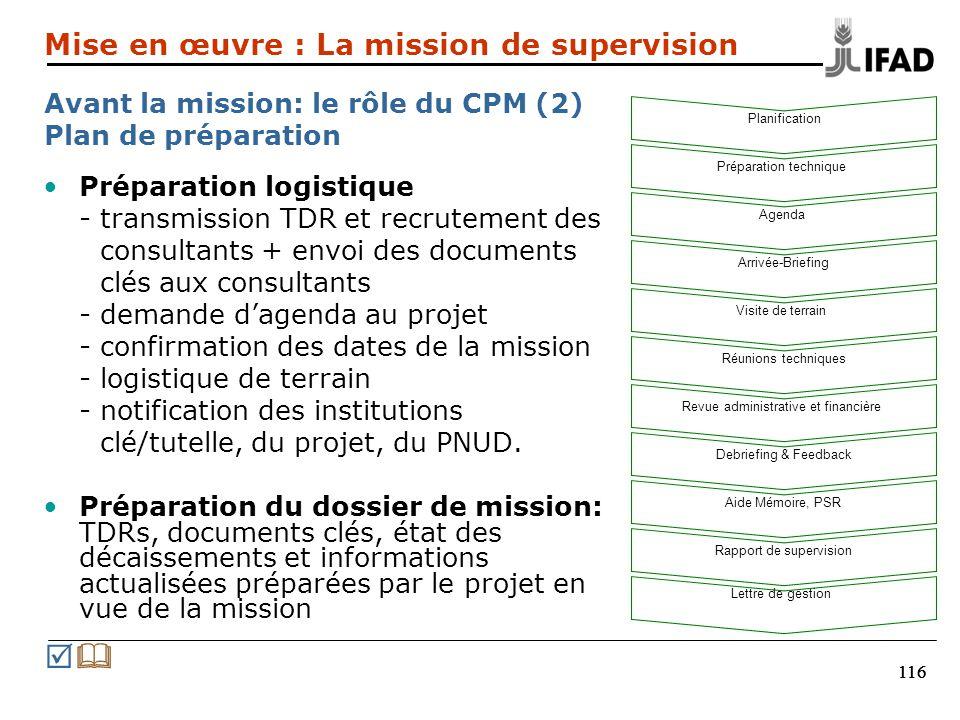 116 Préparation logistique - transmission TDR et recrutement des consultants + envoi des documents clés aux consultants - demande dagenda au projet -