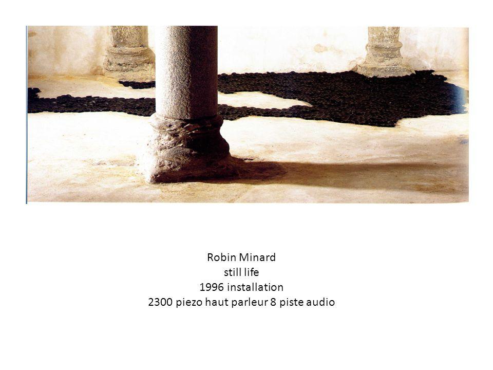 Robin Minard still life 1996 installation 2300 piezo haut parleur 8 piste audio