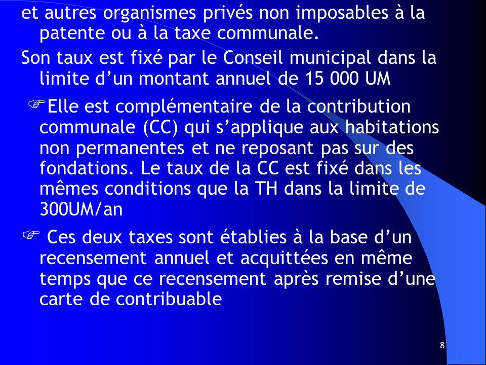 19 7.RECETTES DE FONCTIONNEMENT 71Impôts communaux 7.1.1 contribution foncière 7.1.