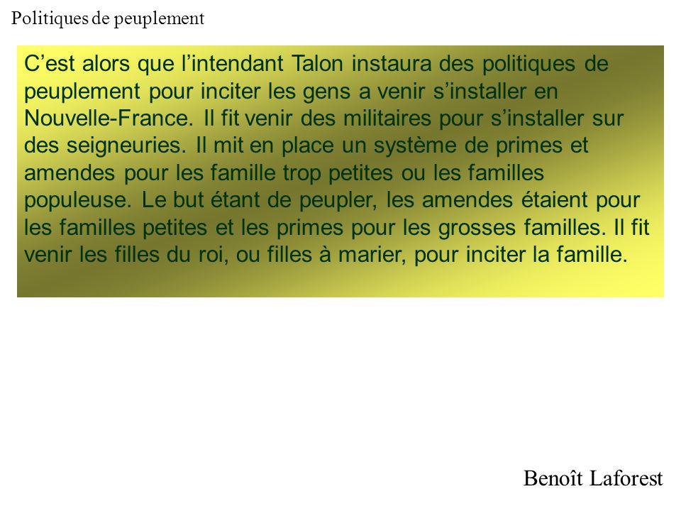 Le peuplement de la Nouvelle- France de 1600 à 1663 Visiblement, les compagnies à monopole ne remplissaient pas leur devoir de peuplement puisquen 160