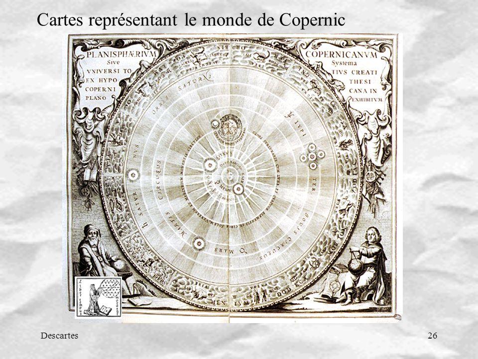 Descartes26 Cartes représentant le monde de Copernic