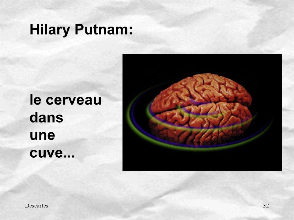 Descartes32 Hilary Putnam: le cerveau dans une cuve...