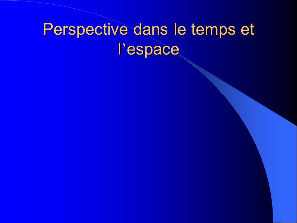 Perspective dans le temps et l espace
