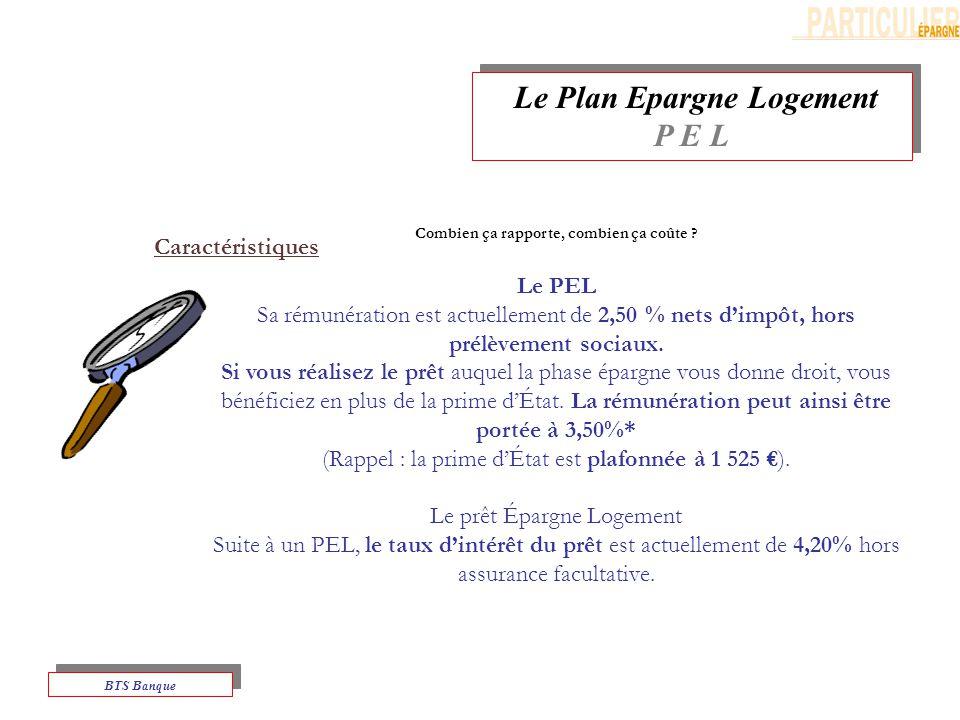 Le Plan Epargne Logement P E L Le Plan Epargne Logement P E L BTS Banque Combien ça rapporte, combien ça coûte .