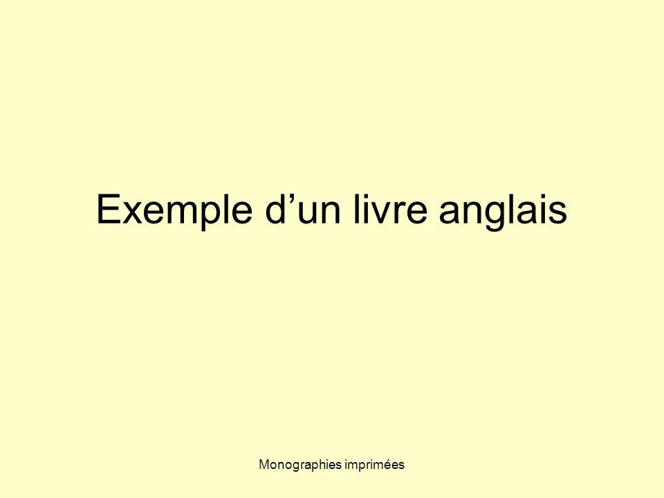 Monographies imprimées 0-19-853479-5 (ii) indique le numéro attribué à la maison dédition dans laire linguistique (i) Exemples : 0-07 pour Mac Graw-Hill, 2-07 pour Gallimard, 2-280 pour Harlequin ISBN (ii)(i)
