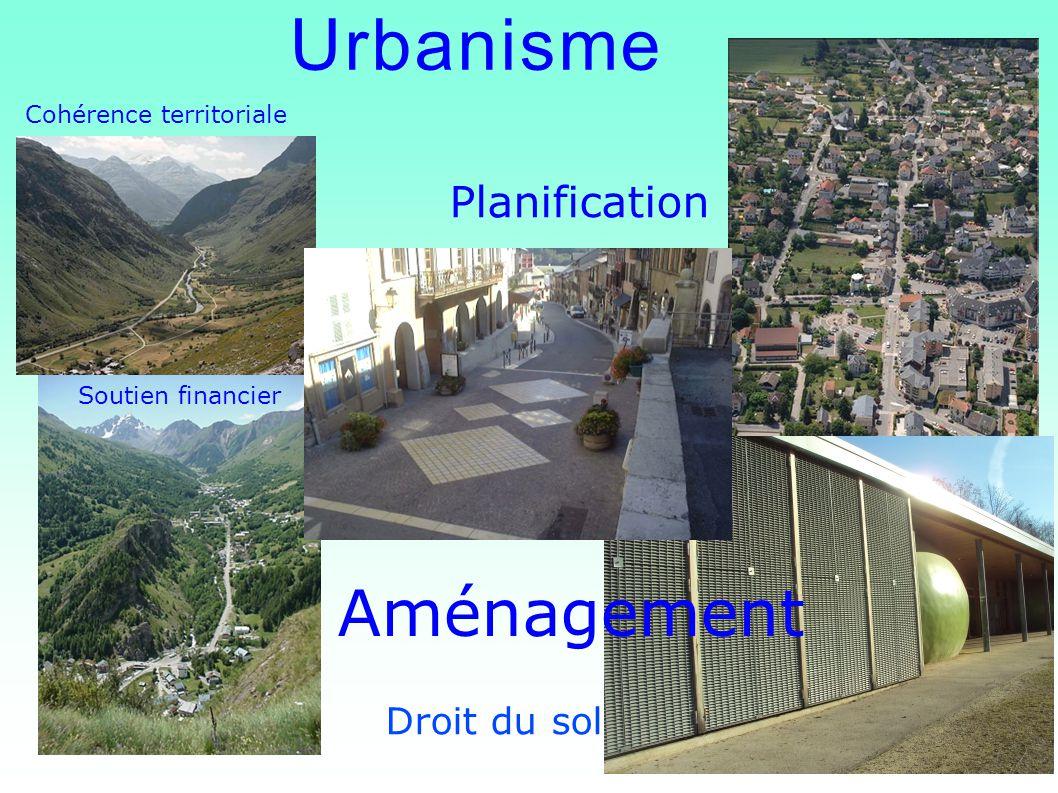 Urbanisme Aménagement Soutien financier Cohérence territoriale Droit du sol Planification