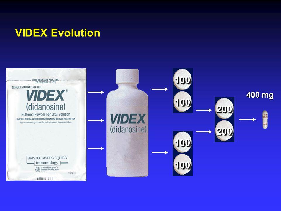 VIDEX Evolution 400 mg 100100 100100 100100 100100 200200 200200
