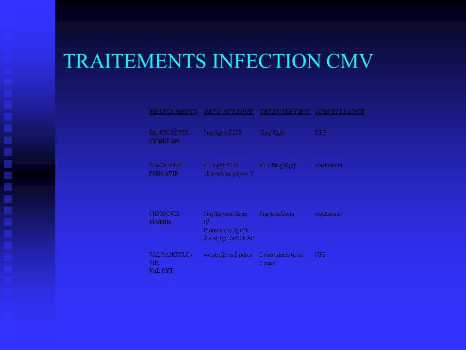 TRAITEMENTS INFECTION CMV