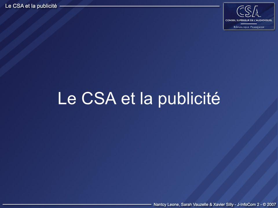Le CSA et la publicité