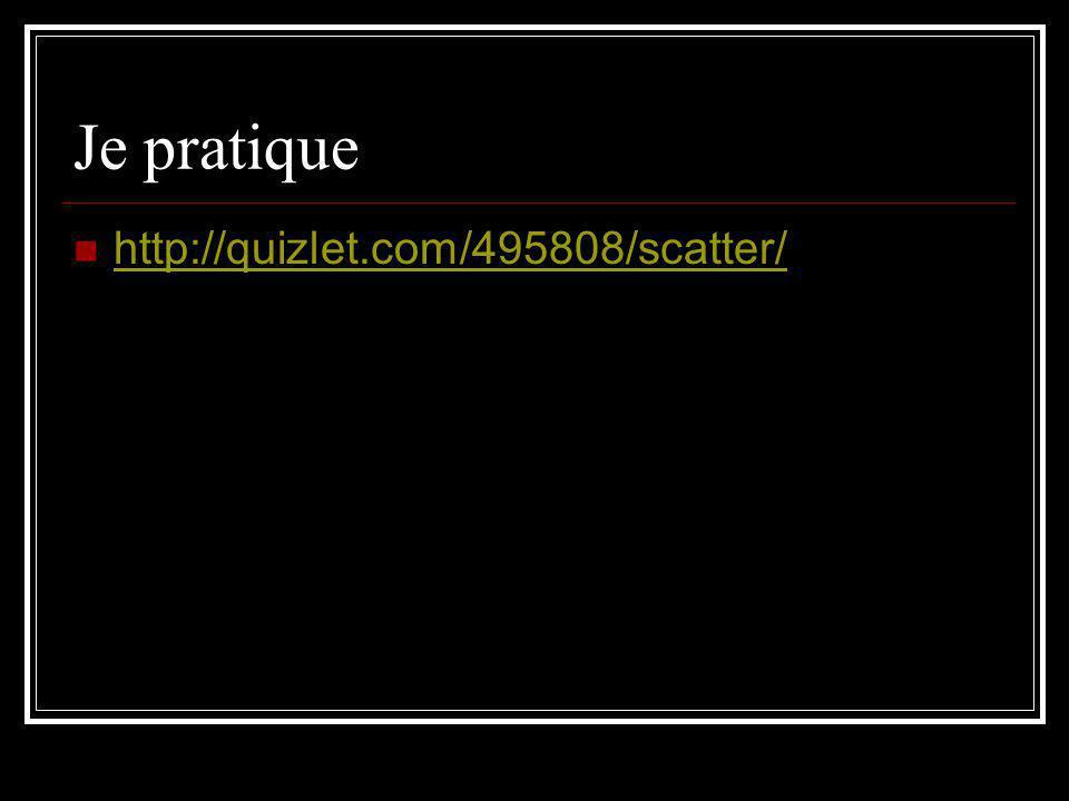 Je pratique http://quizlet.com/495808/scatter/