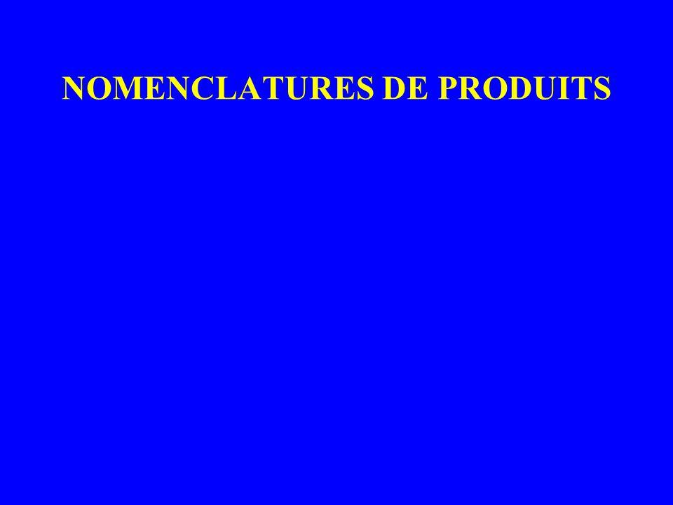 NOMENCLATURES DE PRODUITS