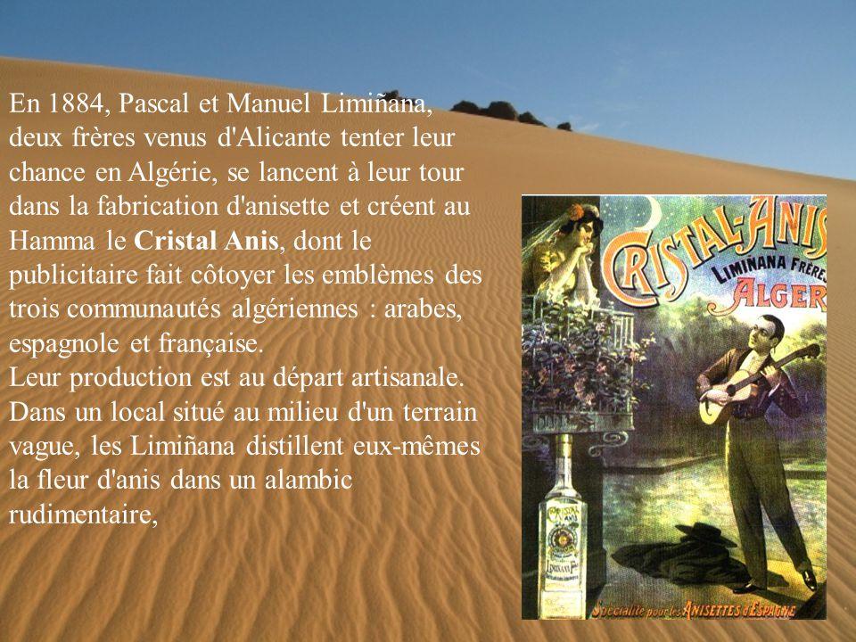 Il faudra attendre 1872 pour que les frères Gras, originaires d Espagne, lancent à Alger sa formule apéritive, composée cette fois à parti d anis étoilé.