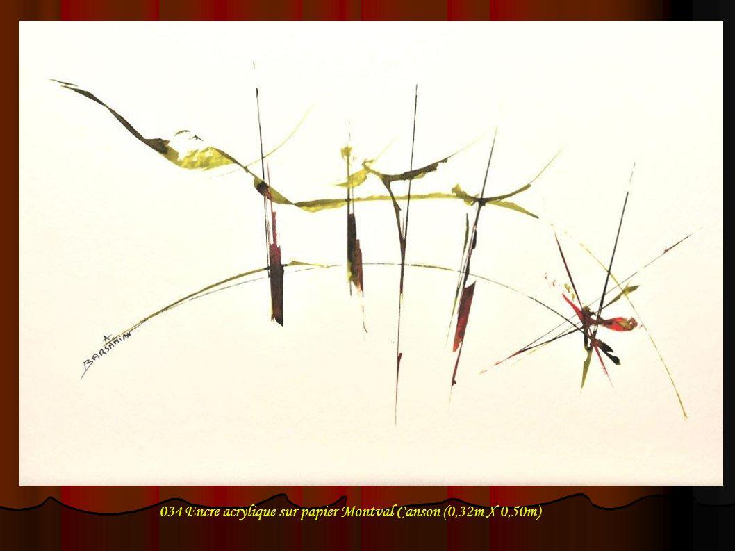 034 Encre acrylique sur papier Montval Canson (0,32m X 0,50m)