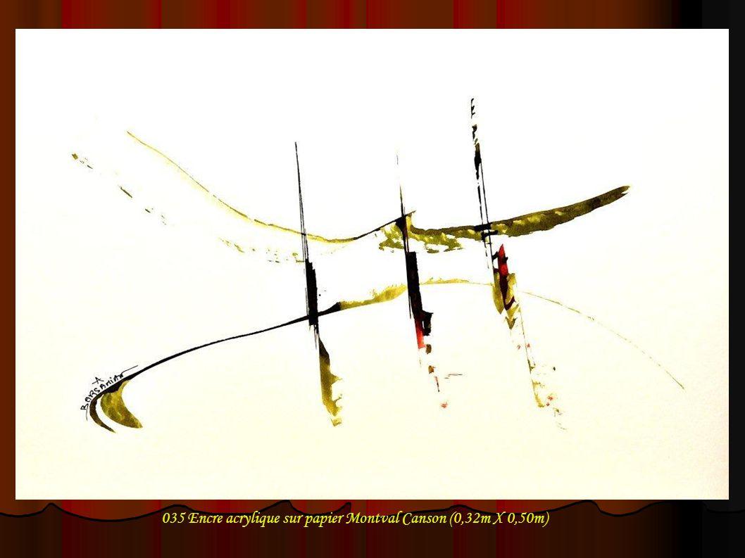 035 Encre acrylique sur papier Montval Canson (0,32m X 0,50m)