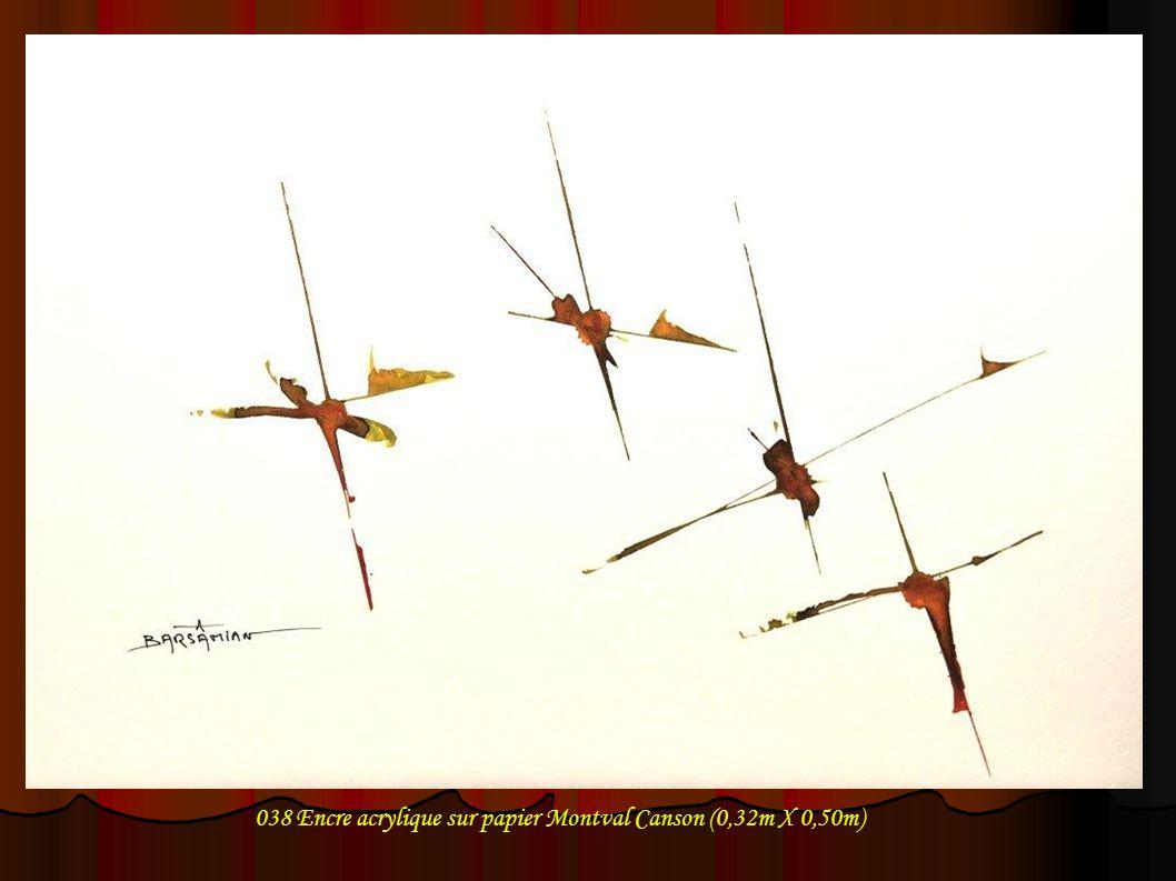 038 Encre acrylique sur papier Montval Canson (0,32m X 0,50m)