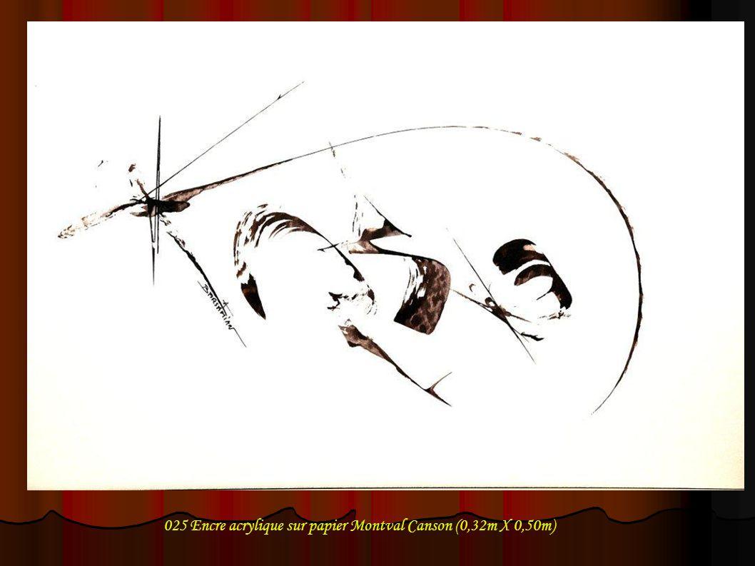 025 Encre acrylique sur papier Montval Canson (0,32m X 0,50m)