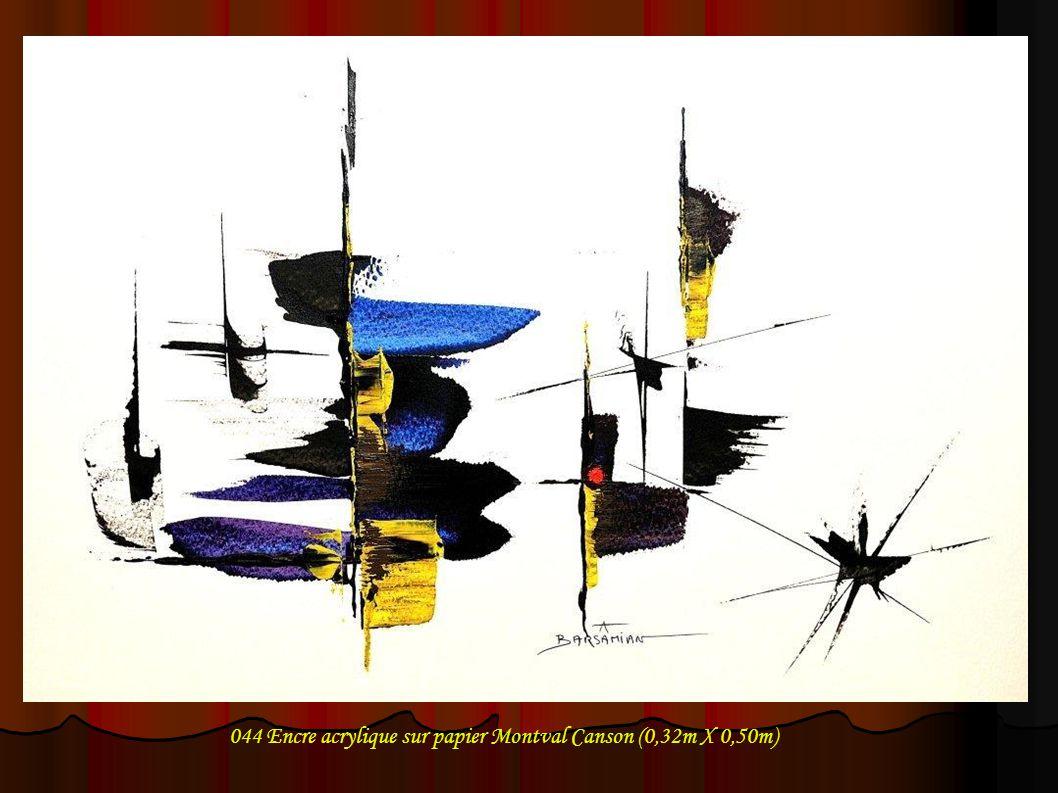 044 Encre acrylique sur papier Montval Canson (0,32m X 0,50m)