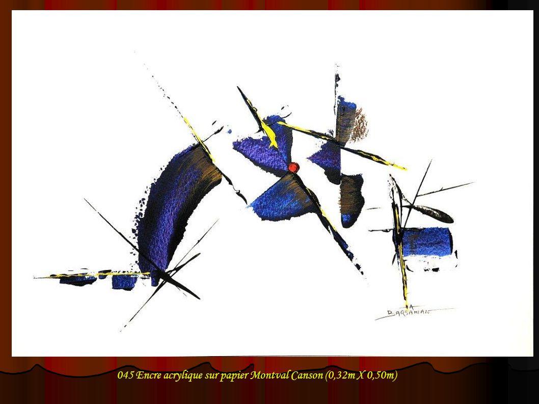 045 Encre acrylique sur papier Montval Canson (0,32m X 0,50m)