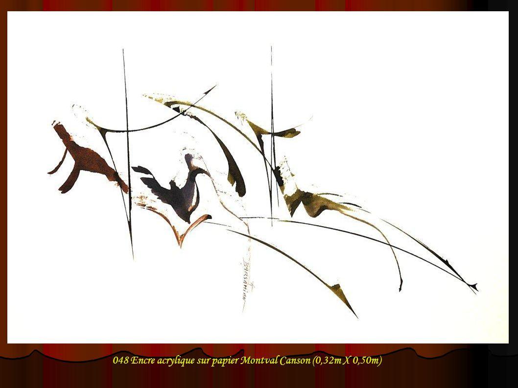 048 Encre acrylique sur papier Montval Canson (0,32m X 0,50m)