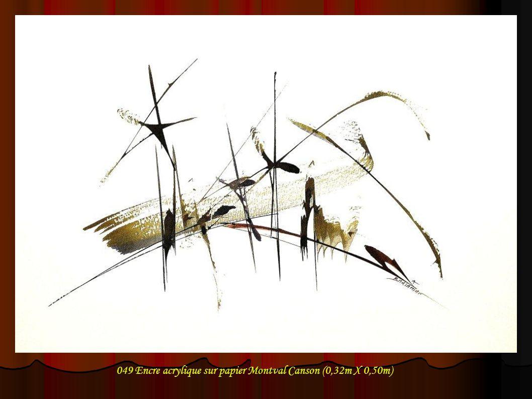 049 Encre acrylique sur papier Montval Canson (0,32m X 0,50m)