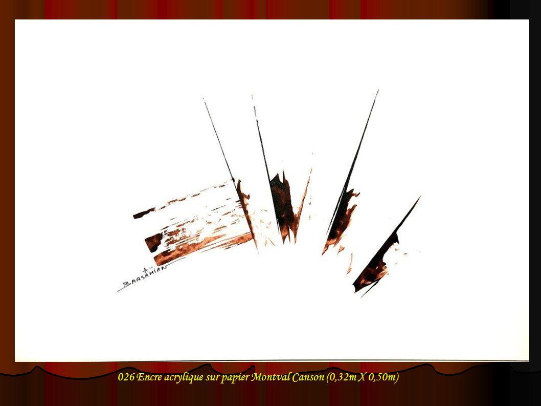 026 Encre acrylique sur papier Montval Canson (0,32m X 0,50m)