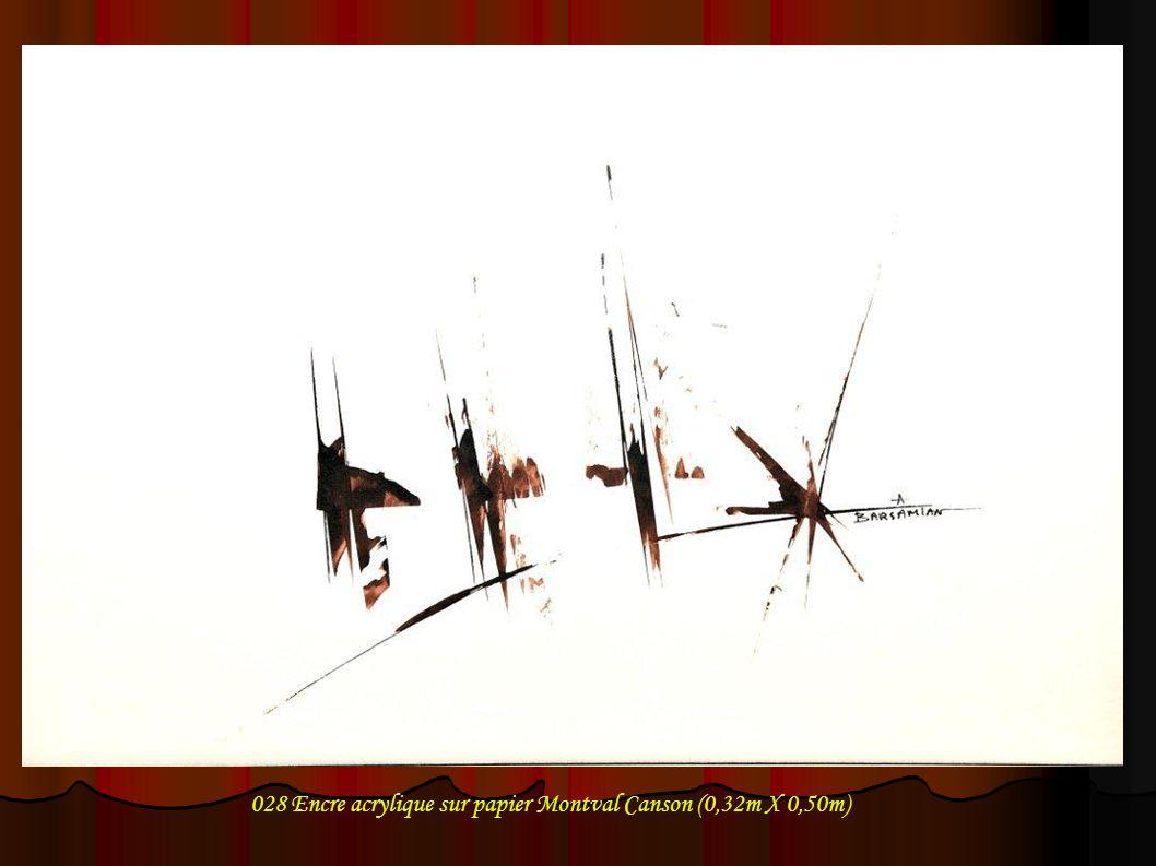 029 Encre acrylique sur papier Montval Canson (0,32m X 0,50m)