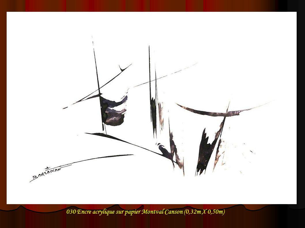 030 Encre acrylique sur papier Montval Canson (0,32m X 0,50m)